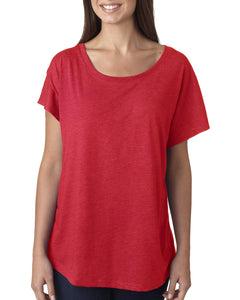Next Level Ladies Triblend Dolman 6760 Vintage Red