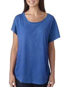 Next Level Ladies Triblend Dolman 6760 Vintage Royal