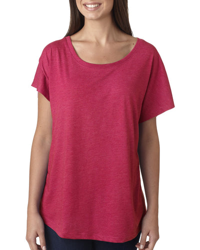 Next Level Ladies Triblend Dolman 6760 Vintage Sh Pink