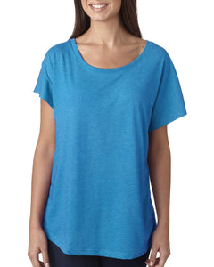 Next Level Ladies Triblend Dolman 6760 Vintage Turq