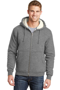 CornerStone Grey CS625 promotional jackets company logo