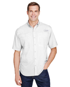 Columbia White 7266 custom work shirts