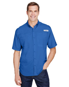 Columbia Vivid Blue 7266 custom work shirts
