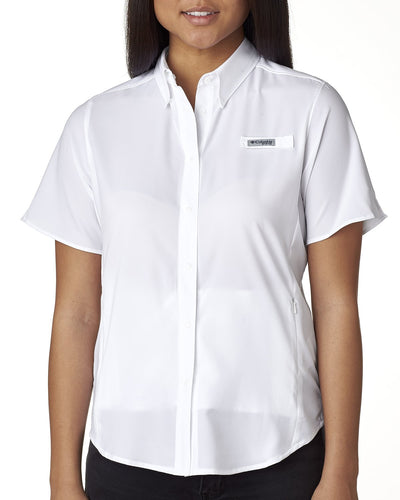Columbia White 7277 custom work shirts
