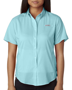 Columbia Clear Blue 7277 custom work shirts