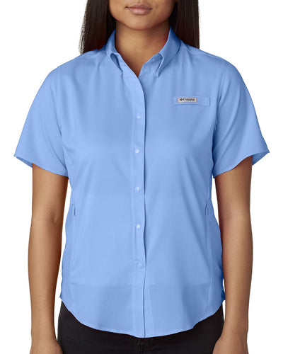 Columbia Whitecap Blue 7277 custom work shirts