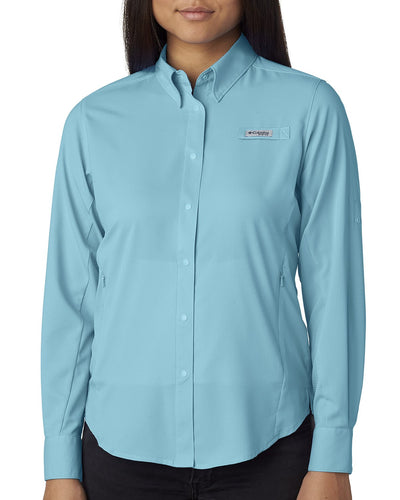 columbia_7278_clear blue_company_logo_button downs