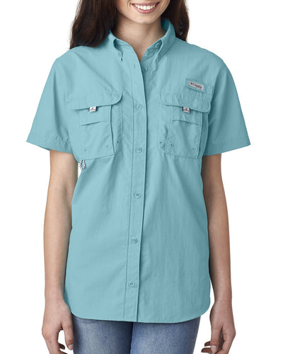 Columbia Clear Blue 7313 logo shirts