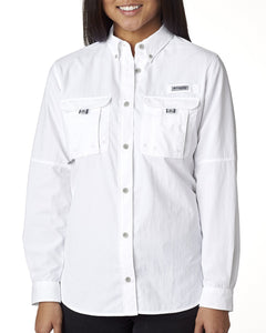 Columbia White 7314 custom embroidered shirts