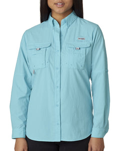 Columbia Clear Blue 7314 logo shirts