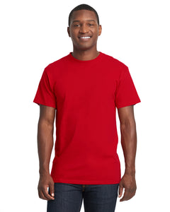 Next Level Adult Power Crew T Shirt Red