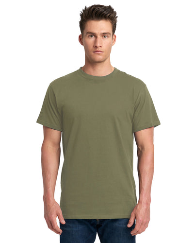 Next Level Adult Power Crew T Shirt Military Green