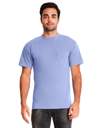 Next Level Adult Inspired Dye Crew With Pocket 7415 Peri Blue