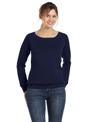 Bella + Canvas Navy 7501 custom embroidery sweatshirts