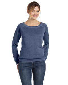 Bella + Canvas Navy Triblend 7501 custom embroidery sweatshirts