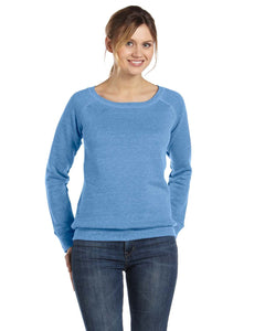 Bella + Canvas Blue Triblend 7501 business sweatshirts with logo