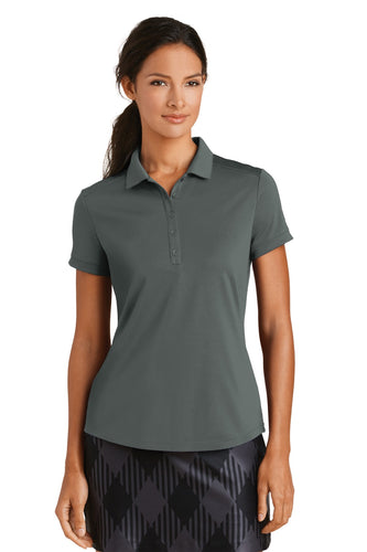 nike ladies dri fit players modern fit polo anthracite