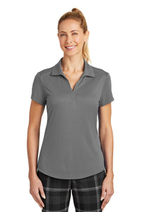 nike ladies dri fit legacy polo dark grey