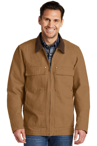 CornerStone Duck Brown CSJ50 promotional jackets company logo