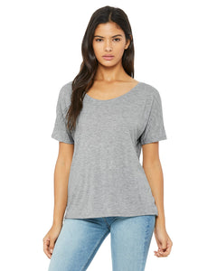 bella + canvas ladies slouchy t-shirt 8816 athletic heather