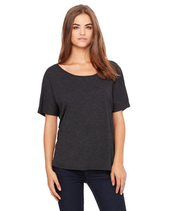 bella + canvas ladies slouchy t-shirt 8816 charcoal/ bl trb