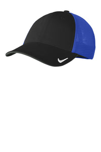nike drifit mesh back cap nkao9293 black game royal