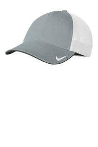 nike drifit mesh back cap nkao9293 cool grey white