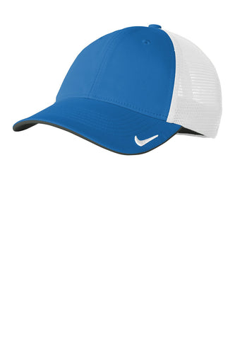 nike drifit mesh back cap nkao9293 gym blue white