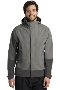 Eddie Bauer Metal Grey/ Grey Steel EB558 business jackets with logo