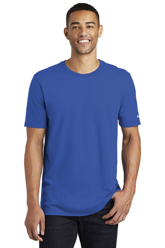 nike core cotton tee nkbq5233 rush blue