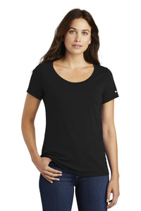 nike ladies core cotton scoop neck tee nkbq5236 black