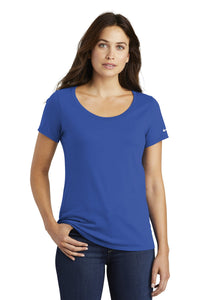 nike ladies core cotton scoop neck tee nkbq5236 rush blue