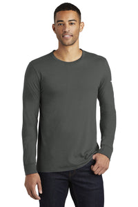 nike core cotton long sleeve tee nkbq5232 anthracite
