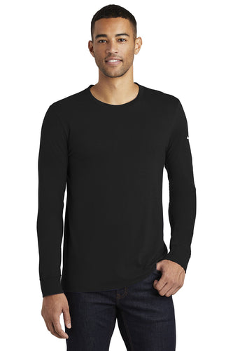 nike core cotton long sleeve tee nkbq5232 black
