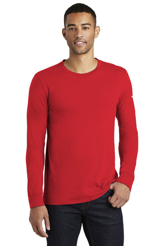 nike core cotton long sleeve tee nkbq5232 university red
