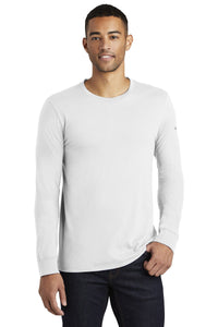 nike core cotton long sleeve tee nkbq5232 white
