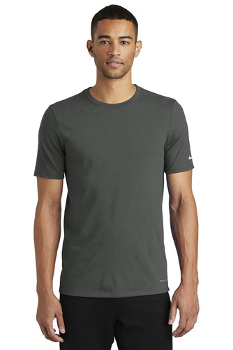 nike drifit cottonpoly tee nkbq5231 anthracite