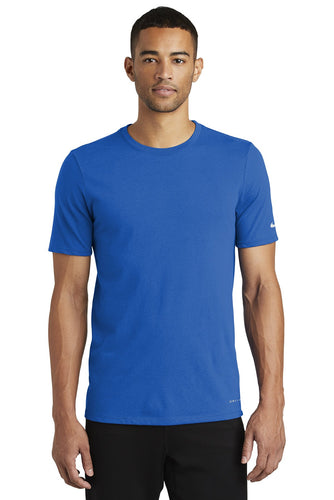 nike drifit cottonpoly tee nkbq5231 game royal