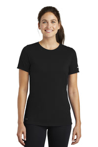 nike ladies drifit cottonpoly scoop neck tee nkbq5234 black