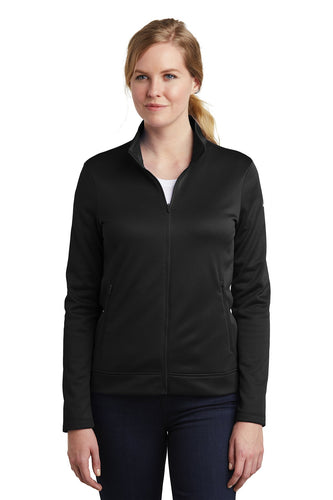 nike ladies thermafit fullzip fleece nkah6260 black