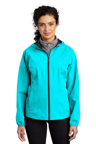 Port Authority Light Cyan Blue L407 embroidered team jackets