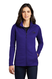 the north face ladies skyline full-zip fleece jacket aztec blue