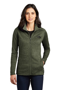 the north face ladies skyline full-zip fleece jacket four leaf clover heather