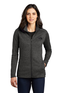 the north face ladies skyline full-zip fleece jacket tnf dark grey heather