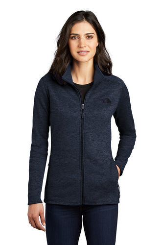 the north face ladies skyline full-zip fleece jacket urban navy heather