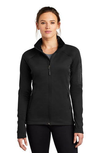 the north face ladies mountain peaks full-zip fleece jacket tnf black