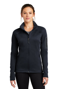the north face ladies mountain peaks full-zip fleece jacket urban navy