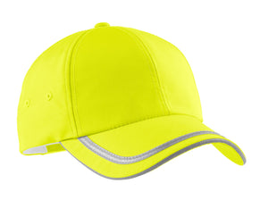 port authority enhanced visibility cap safety yellow reflective