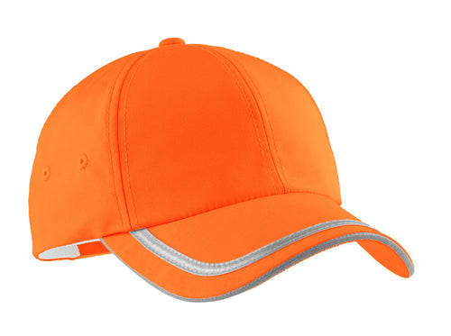 port authority enhanced visibility cap safety orange reflective