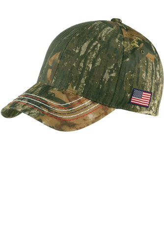 Port Authority Americana Contrast Stitch Camouflage Cap